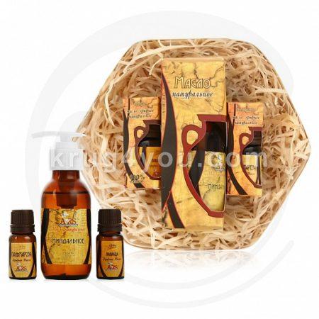 Набор натуральных масел Для питания и увлажнения кожи лица и тела