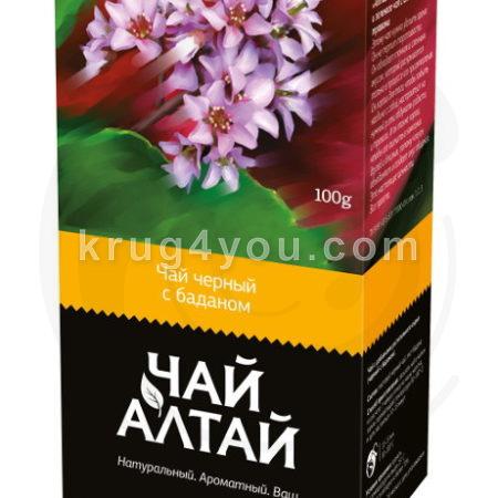 Чай Алтай черный с баданом