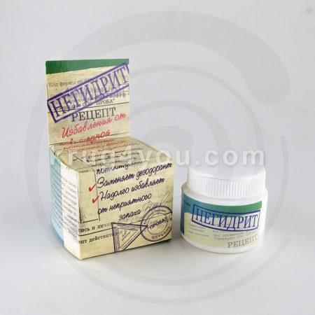 Гель-крем Негидрит - специальное средство при гиперпотливости, способствует снижению избыточной влажности, нормализует потоотделение, заменяет дезодорант.