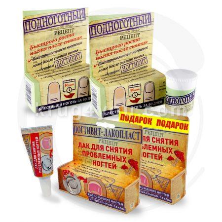 Состав Набора Здоровые ногти:Подноготный - 2 шт., Ногтивит-лакопласт - 2 шт.